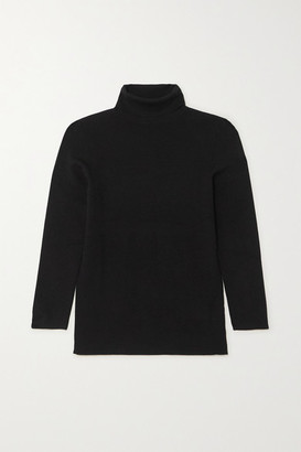 Joseph Silk-blend Turtleneck Top - Black