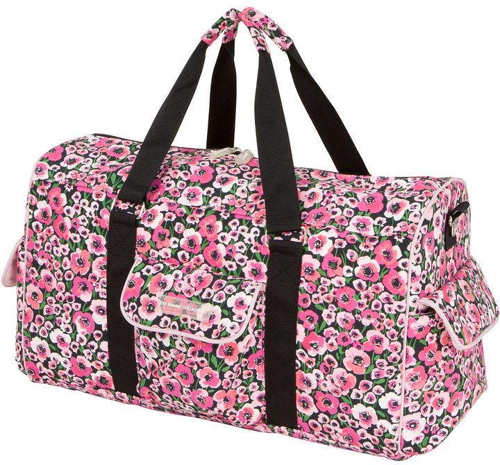 The Bumble Collection Jennifer Weekender Diaper Bag - Peony Paradise