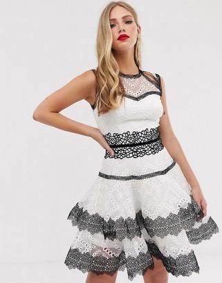 Bronx And Banco & Banco Alexa mini skater dress-White