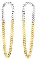 Wouters & Hendrix Wouters and Hendrix Mixed Sterling Silver and Yellow Gold Plated Earrings