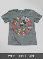 Junk Food Clothing Kids Boys Mickey Mouse Flags Tee-steel-m