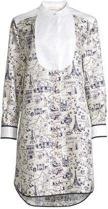 Tory Burch Printed Silk Tunic Dress