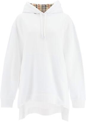 Burberry AURORE SWEATSHIRT IN ORGANIC COTTON L White, Beige, Black Cotton