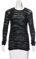 Helmut Lang Open Knit High-Low Sweater