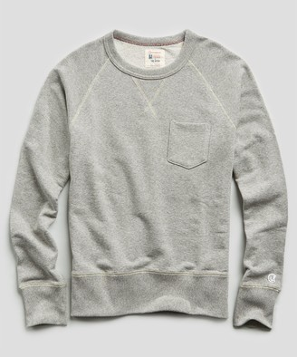Todd Snyder + Champion Terry Pocket Sweatshirt in Light Grey Mix