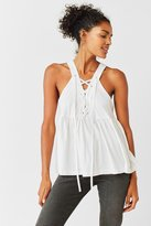Truly Madly Deeply Lace-Up Babydoll Tank Top