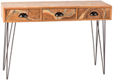 Privilege Mosaic Inlay Three-Drawer Console Table