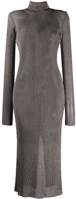 Thierry Mugler Knitted Turtleneck Dress