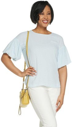 Vince Camuto Bubble Sleeve Cabana Textured Blouse