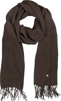 Mila Schon Dark Brown Wool and Cashmere Stole