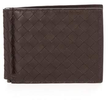 Bottega Veneta Intrecciato Leather Hinge Wallet - Mens - Brown