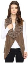 Brigitte Bailey Rowena Faux Suede Fuzzy Vest