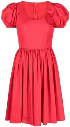 Dolce & Gabbana Puff-Sleeve Cotton Dress
