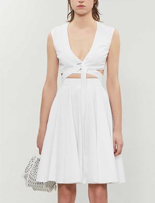 Azzedine Alaia Textured cotton skirt