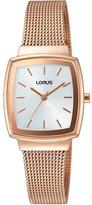 Lorus Women's RG252L Rose Gold Square Mesh Bracelet Wrist Watch