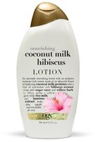 OGX Body Lotion, Nourishing Coconut Milk Hibiscus, 13oz