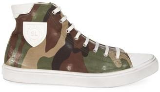 Saint Laurent Bedford Camo Canvas High-Top Sneakers