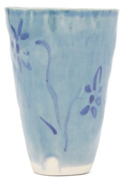 Jessica Hans - Floral Porcelain Tumbler - Light Blue