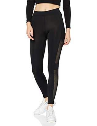 Urban Classic Women's Ladies Mesh Side Stripe Leggings (Black 00007), 22 (Size: )