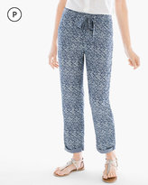 Chico's Indigo-Print Soft Crop Pants