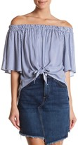 Soprano Off-the-Shoulder Striped Blouse