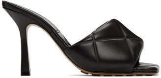 Bottega Veneta Black Padded Heeled Sandals