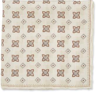Brunello Cucinelli Diamond Floral Pattern Pocket Square