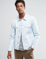 Asos Denim Jacket In Slim Fit With Stonewash