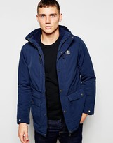 Franklin & Marshall Casual Jacket With Hood - Blue