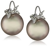 Gabrielle Sanchez White Gold, Gray Tahitian Cultured Pearl, and Diamond Flyer Earrings