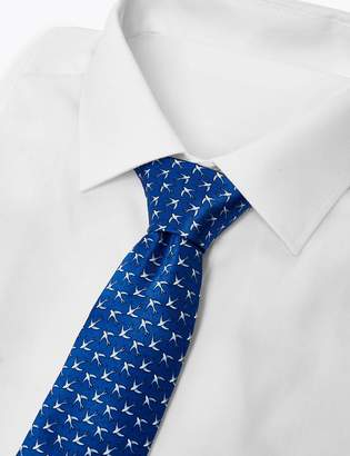 M&S Collection LuxuryMarks and Spencer Luxury Silk Classic Swallow Print Tie