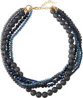 Greenbeads by Emily & Ashley Midnight Blue Five-Row Necklace