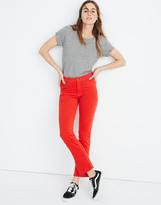 Madewell M.i.h High-Rise Straight Jeans in Velvet