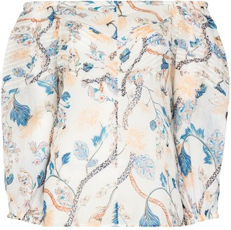 Chloé Floral Off-The-Shoulder Blouse