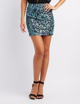Charlotte Russe Sequin Mini Skirt