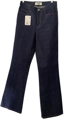 Fendi Blue Cotton Jeans