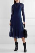 By Malene Birger - Lampas Open-back Jacquard-knit Midi Dress - Blue