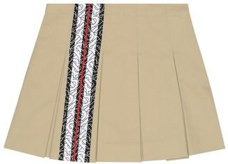 BURBERRY KIDS Monogram Stripe cotton skirt