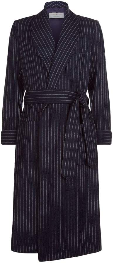 Daniel Hanson Stripe Wool Robe