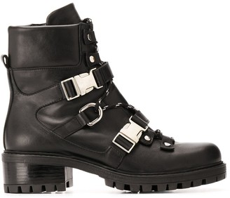 Albano Buckle Fastened Military Boots