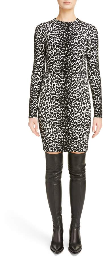 Givenchy Leopard Jacquard Body-Con Dress