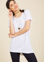 Simplicity on a Saturday Tunic in White in XL