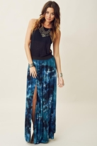Blu Moon Double Slit Skirt in Storm