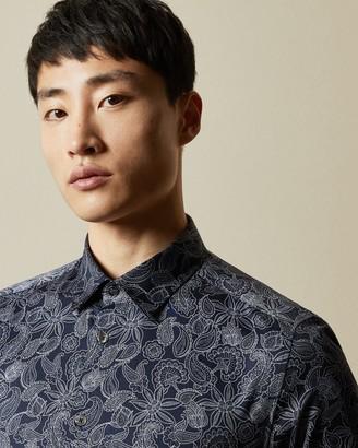 Ted Baker FORSURE Paisley print cotton shirt