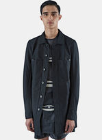 Rick Owens Drkshdw Men's Cotton Twill Lab Jacket In Black