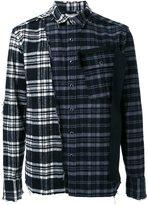Miharayasuhiro flannel half detail shirt