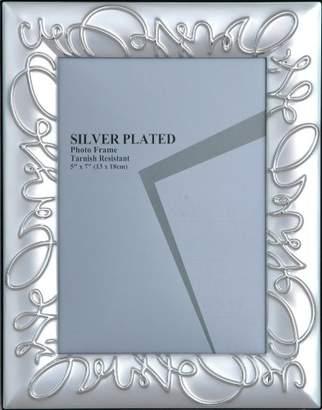 Camilla And Marc Sukima Decor Wed Photo Frame, Metal, Silver, 20 x 25 cm