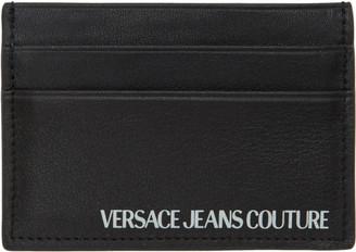 Versace Black Logo Card Holder