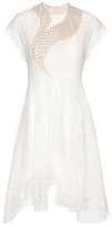 Stella McCartney Clothide Embroidered Cotton-blend Dress