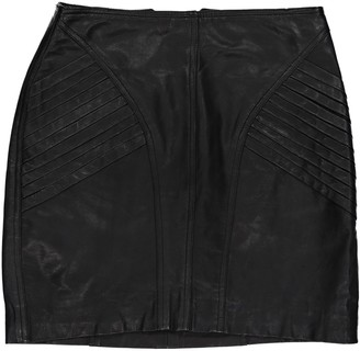 Robert Rodriguez Black Leather Skirts